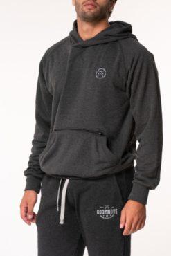 Μπλούζα φούτερ με κουκούλα ανθρακί