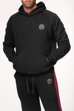 Μπλούζα φούτερ με κουκούλα μαύρη