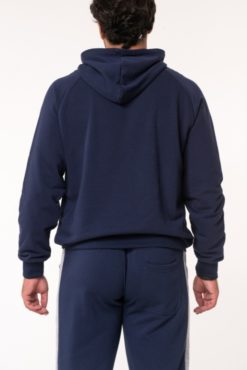 Μπλούζα φούτερ με κουκούλα μπλε